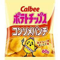 【ケース販売】カルビー ポテトチップス コンソメパンチ 60g×12袋[カルビー ポテトチップス]
