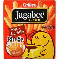 【ケース販売】カルビー Jagabee(じゃがビー) バターしょうゆ味 90g×12袋[カルビー Jagabee(じゃがビー)]
