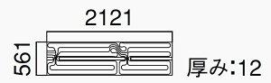 ノーリツ高効率・小根太入り根太上設置温水マットMD-0621XC-BL有効面積1.19m2・質量2.0kg