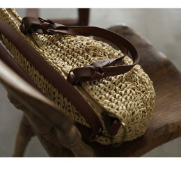 バッグ楽しみ方2通りの爽やかバッグが、リニューアル。2WAYペーパー編み上げバッグレディース/鞄/かごバッグ/ショルダーバッグ/トートバッグ/バケツ型/斜め掛け/手提げ/肩掛け/ラフィア風soulberryオリジナル