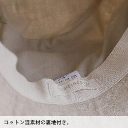 ハットさらりとしたナチュラル素材にリボンを巻いて。コットンリネンリボンバンドルハットレディース/帽子/綿麻/紫外線対策/UV対策soulberryオリジナル