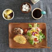 ディッシュ プレート アカシア レクタングルディッシュ キッチン ナチュラル テーブル