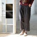 パンツ M/L/LL/3Lサイズ こっそり防寒対策できる、重ね穿きいらずのワザありボトム。中綿ボンディングサルエルパンツレディース/テーパード/ロング/防寒/ボトムスsoulberryオリジナル