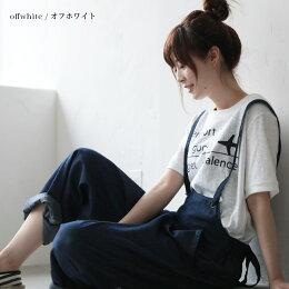 TシャツM/L/LLサイズ絶妙なこなれ感漂う、カジュアルに。飛行機プリントスラブTシャツレディース/半袖/コットン混/綿混/カットソーsoulberryオリジナル