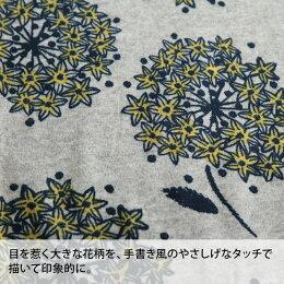 チュニックM/Lサイズ秋冬コーデに映える、ひと味違う大きな花を。裏起毛花柄オフタートルニットソーチュニックレディース/コクーン/長袖/ハイネック/タートルネック
