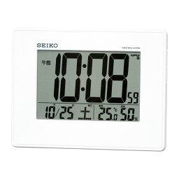 セイコー 温・湿度表示付電波掛置時計 SQ770W