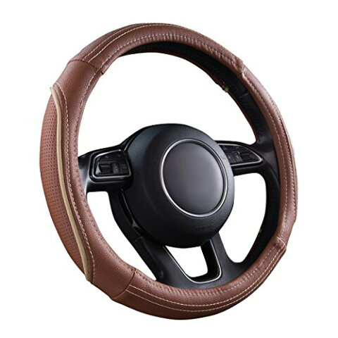 New Arrival- CAR PASS Universal Line Rider Delux Leather Steering Wheel Cover