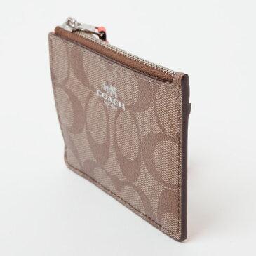 コーチ COACH 小物 コインケース 小銭入れ ラグジュアリー シグネチャー PVC ミニ ID キーリング スキニー f16107 小物 coin case