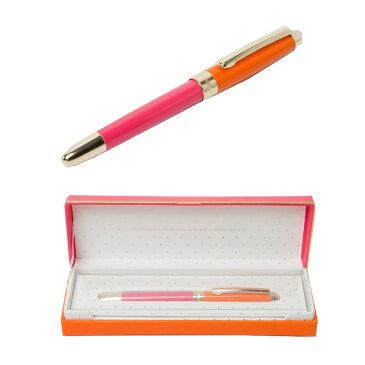 ケイトスペード ボールペン kate spade HAND WRITTEN NOTE BALL POINT PEN キャップ式 オレンジ ピンク ペン 133740