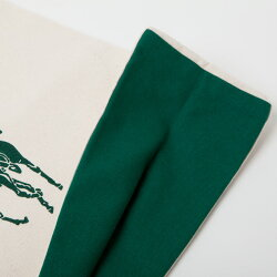 【ラルフローレン】RalphLaurenオーガニックコットンエコバッグトートバッグ☆ナチュラル×グリーン【あす楽対応】【YDKG-m】
