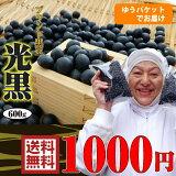 【ゆうパケット】北海道産【黒豆】1000円ポッキリ!ブランド黒豆『光黒』600g 【数量限定】あの芸能人が−20キロ