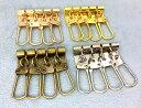 ● キーケース 金具 A 4連 幅34mm 5個入り アンティークゴールド(真鍮古美) ニッケルシルバー ゴールド マットゴールド 四連 厚タイプ