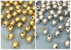 〇〇樹脂ビーズ 両穴 マット感 直径6mm 12g入り 約105個 マットシルバー マットゴールド