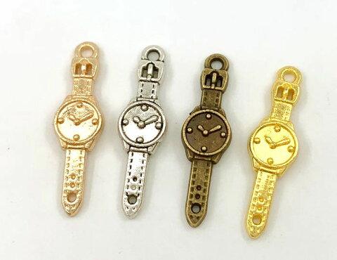 ★ 金属チャーム 腕時計 A 小 20個入り 24*7mm 厚2mm