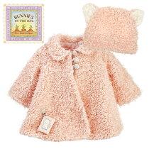ピンクのコートとねこみみ帽子のセット♪24M