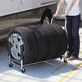 伸縮スライド式タイヤラック(キャスター付き・タイヤカバー付属)