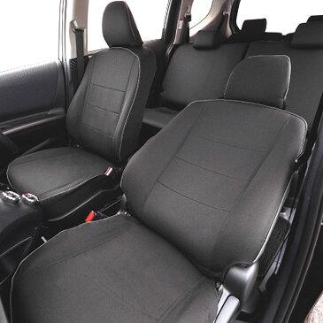 【W7-36】トヨタ シエンタ(NHP170G・NSP170G・NCP175G)7人乗り専用 撥水加工布シートカバー『ウォータープルーフ』(ブラック)1台分セット [H27.7〜]