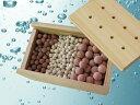 お風呂でポッカポカ♪ゲルマニウム&トルマリンボール&ラジウム温浴ボール(天然木箱入り)