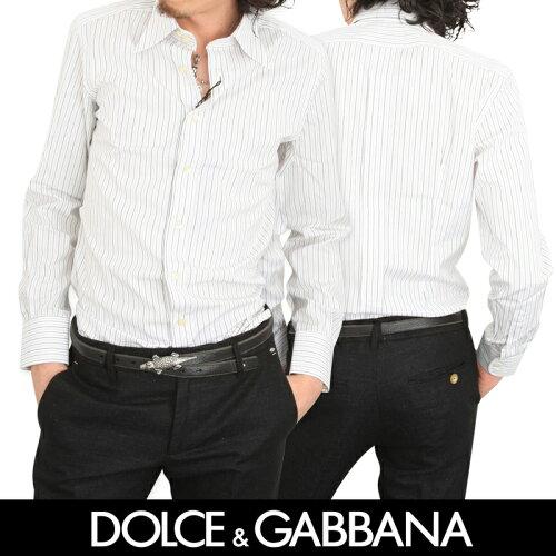 DOLCE&GABBANA/ドルチェアンドガッバーナ メンズドゥエボットーニドレスシャツ(Slim Fit)/ワイシャ...