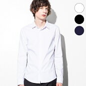 1PIU1UGUALE3RELAX(ウノピゥウノウグァーレトレ)ストレッチオックスシャツ(ホワイト/ネイビー/ブラック)【あす楽】