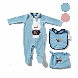 EMPORIO ARMANI エンポリオアルマーニ Baby ギフトセット ロンパース ジャンプスーツ スタイ 赤ちゃん おしゃれ かっこいい ブランド 子供服 こども服 プレゼント