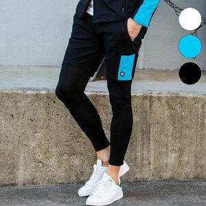 Kappa カッパ テック バイカラー ショート ハーフ パンツ メンズ ズボン ボトムス リラックス おしゃれ かっこいい ブランド ジャージ 運動 スポーツ トレーニング ウェア 部屋着