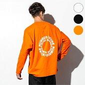 NUMBER(N)INEDENIM(ナンバーナインデニム)サークルロゴドルマンロングTシャツ(ホワイト/ブラック/オレンジ)