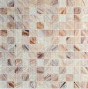 ●モザイク ガラスタイル チークストライプ30センチ角 11枚=1平米...