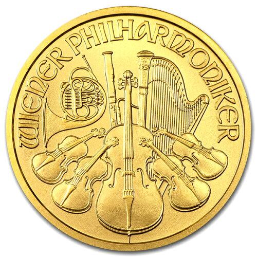 24金 ウィーン金貨 1/2オンス オーストリア造幣局 ケース入り 保証書付 ウィ...