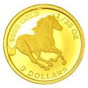 【純金コイン】ツバルホース金貨 1/25オンス ツバル政府発行 純金 金 ゴールド コイン 品位 99.99% 硬貨...