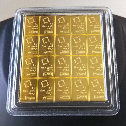 【純金 インゴット 延べ棒】ゴールドバー 20g スイス valcambi発行 保証書付:金貨と銀貨&純金アクセの-SPACE-