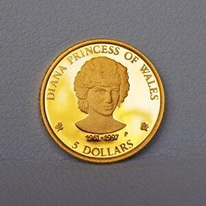 純金 コイン 24金 ダイアナ金貨 1/25オンス クック諸島 プリンセスダイアナ ダイアナ妃 金貨 イギリス 英国(K24/99.99%)