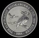 純銀 シルバー コイン エリザベス 銀貨かわせみ銀貨 1オンス 2004年製  オーストラリアパ...