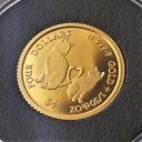 24金 ねこのミーチョとミーチャ金貨 1/30オンス 2021年製 クック諸島 マザーズラブ 保証書・ボックス付...