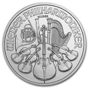 [新]维也纳银币1盎司随机年份纯银币奥地利造币厂发行的31.1克纯银等级:99.9%银和谐银币收藏礼物小提琴欧洲乐器<<内心的纯正正品保证]袋]