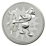 【新品・未開封】「あす楽対応」『ミッキーマウス銀貨 1オンス 2017年製 クリアケース入り』ニュージーランド造幣局発行 31.1gの純銀品位:99.9% 銀貨 シルバー コインディズニー Disney Mickey《安心の本物保証》【保証書付き・巾着袋入り】