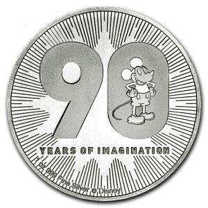 [新]米老鼠90周年纪念银币1盎司2018年制成的纯银币新西兰造币厂发行的31.1 g纯银等级:99.9%银迪士尼迪斯尼迪斯尼米奇美国字符金银贵重金属销售收藏礼物银[带保修]