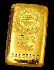 【送料無料】【田中貴金属 ゴールドバー 純金 100g】田中 TANAKA ゴールド バー INGOT インゴット 純金 k24 24金 Gold coin Bar 99.99% Au