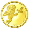 ツバルエンジェル金貨1/25オンス2016年