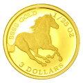 ツバルホース金貨1/25オンス2014年製ツバル政府発行