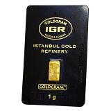 【新品・未開封】『イスタンブール ゴールドグラム ゴールドバー 1g 』イスタンブール・ゴールドリファイナリー社発行1gの純金 24金 インゴット 金地金 IGR 純金バー《安心の本物保証》 【保証書付き・巾着袋入り】