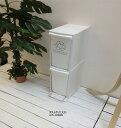 ※ダストボックス 2D 2段 ゴミ箱 ごみ箱 分別 縦型 スリム すき間 省スペース フラップ式 オープンペダル 容量 20リットル リサイクル …