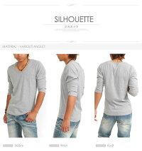 Tシャツ/メンズ/Vネック/Uネック/長袖/七分袖