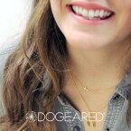 【メール便可】【ラッピング無料】Dogeared ドギャード【T1G-G200-000100】faith small sideways cross necklace フェイススモールサイドウェイズクロスネックレス gold dipped ゴールド 横向き 十字架