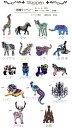 5タイプ新入荷!かわいい動物、モチーフをバックや手づくり雑貨のワンポイントに・・・▼10%OF...