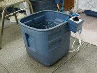 ぽかぽか足湯器脚温器深型でふくらはぎまで温めます!