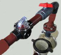 【送料無料】温泉対応塩ビ製フローメーター流量計