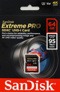 送料無料SDカードExtremeProUHS-IU3SDXCカード64GBclass10SanDiskサンディスク超高速95MB/sパッケージ品02P27May16