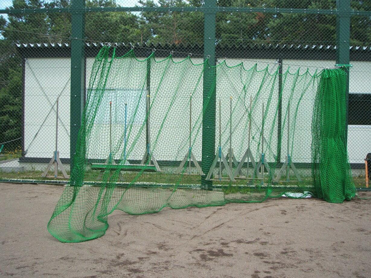 【野球用ネット】野球 防球ネット 37.5角-90本 Tネット用カーテン3.5M×15Mリング付 カーテン仕様(受注生産)