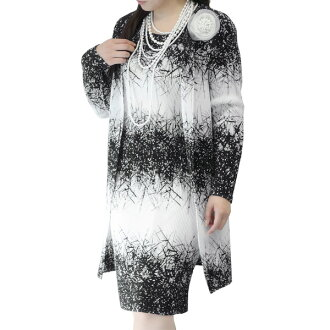 SPECCHIO aspecto 班車碟子 / 眼鏡模式列印長夾克 / 正式外套 / 長外套女式 / 方夾克 / 婚禮夾克 / 正式 /